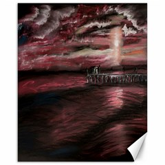 Pier At Midnight Canvas 16  x 20  (Unframed)