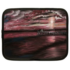 Pier At Midnight Netbook Sleeve (large)