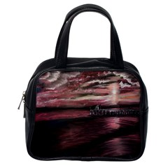 Pier At Midnight Classic Handbag (one Side)