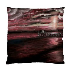 Pier At Midnight Cushion Case (Two Sided)