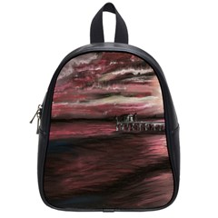 Pier At Midnight School Bag (Small)