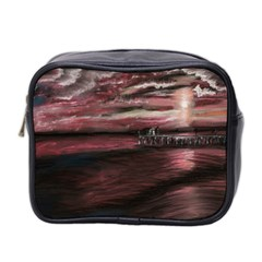 Pier At Midnight Mini Travel Toiletry Bag (Two Sides)