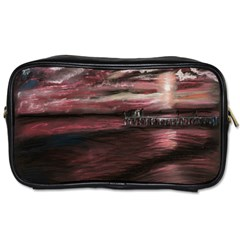 Pier At Midnight Travel Toiletry Bag (two Sides)