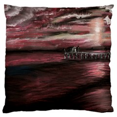 Pier At Midnight Large Cushion Case (Single Sided)