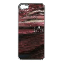 Pier At Midnight Apple iPhone 5 Case (Silver)