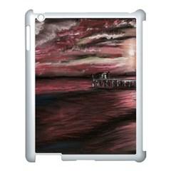 Pier At Midnight Apple iPad 3/4 Case (White)