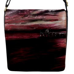 Pier At Midnight Flap Closure Messenger Bag (Small)