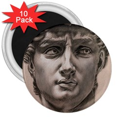 David 3  Button Magnet (10 pack)