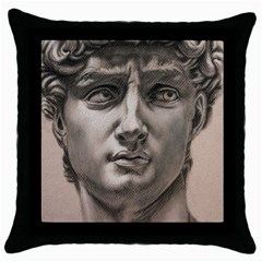 David Black Throw Pillow Case