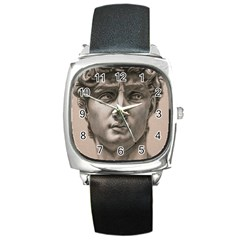David Square Leather Watch