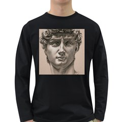 David Men s Long Sleeve T Shirt (dark Colored)