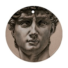 David Round Ornament (Two Sides)
