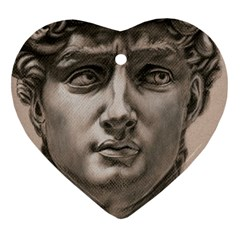 David Heart Ornament (Two Sides)