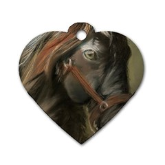 Storm Dog Tag Heart (One Sided)