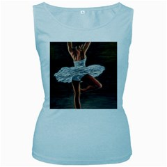 Ballet Ballet Women s Tank Top (Baby Blue)