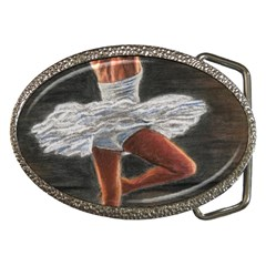 Ballet Ballet Belt Buckle (Oval)