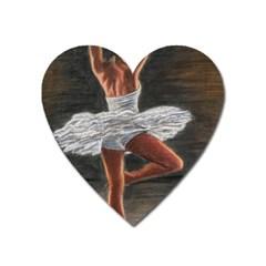 Ballet Ballet Magnet (Heart)