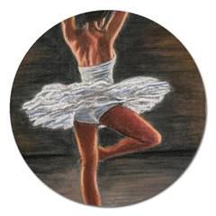 Ballet Ballet Magnet 5  (round)
