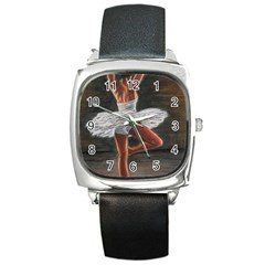 Ballet Ballet Square Leather Watch