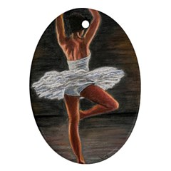Ballet Ballet Oval Ornament (Two Sides)