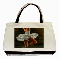 Ballet Ballet Twin-sided Black Tote Bag