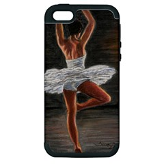 Ballet Ballet Apple Iphone 5 Hardshell Case (pc+silicone)