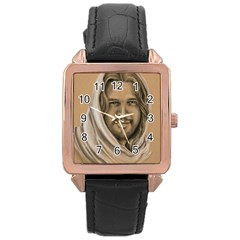 Messiah Rose Gold Leather Watch