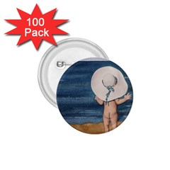 Mom s White Hat 1.75  Button (100 pack)