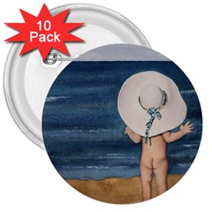 Mom s White Hat 3  Button (10 pack)