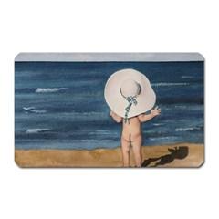 Mom s White Hat Magnet (Rectangular)