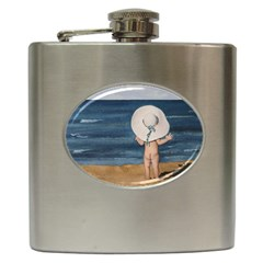 Mom s White Hat Hip Flask