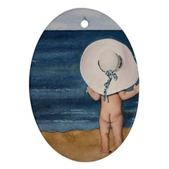 Mom s White Hat Oval Ornament (Two Sides)
