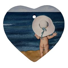 Mom s White Hat Heart Ornament (Two Sides)
