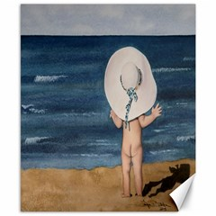 Mom s White Hat Canvas 8  x 10  (Unframed)