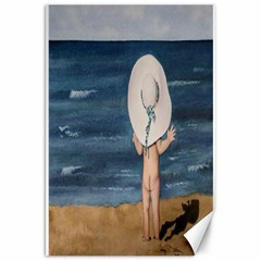 Mom s White Hat Canvas 20  x 30  (Unframed)