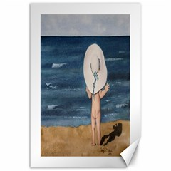 Mom s White Hat Canvas 24  x 36  (Unframed)