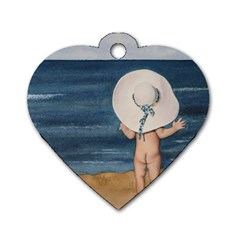 Mom s White Hat Dog Tag Heart (Two Sided)