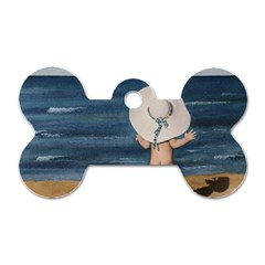 Mom s White Hat Dog Tag Bone (Two Sided)