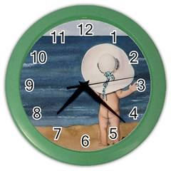 Mom s White Hat Wall Clock (Color)