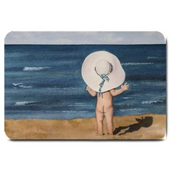 Mom s White Hat Large Door Mat