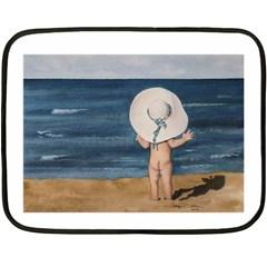 Mom s White Hat Mini Fleece Blanket (Two Sided)