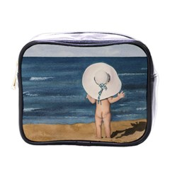 Mom s White Hat Mini Travel Toiletry Bag (one Side)