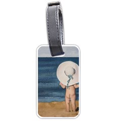 Mom s White Hat Luggage Tag (one Side)