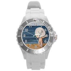 Mom s White Hat Plastic Sport Watch (large)