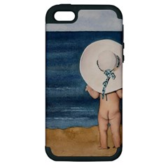 Mom s White Hat Apple Iphone 5 Hardshell Case (pc+silicone)