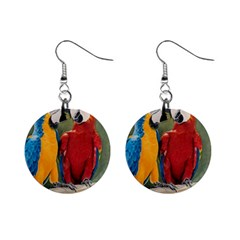Feathered Friends Mini Button Earrings