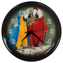 Feathered Friends Wall Clock (Black)