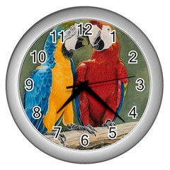 Feathered Friends Wall Clock (Silver)