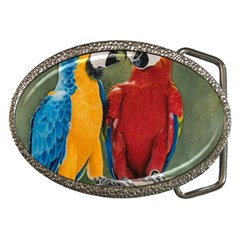 Feathered Friends Belt Buckle (Oval)
