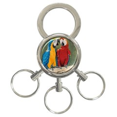 Feathered Friends 3 Ring Key Chain